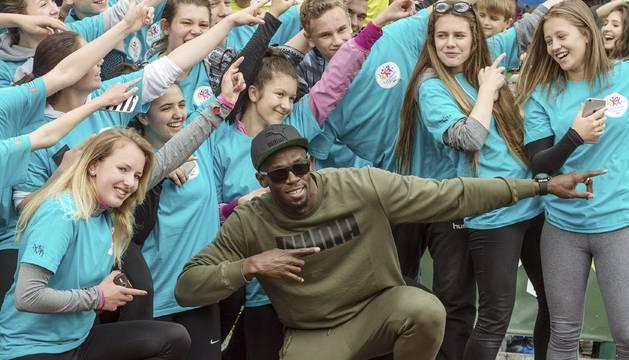 Usain Bolt, en Praga.