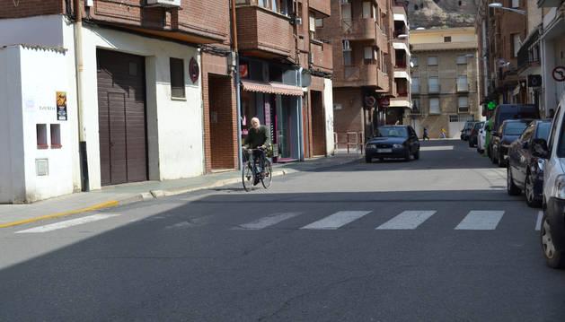 Calle Centro Parroquial de Lodosa, incluida en la memoria elaborada por Montejurra.