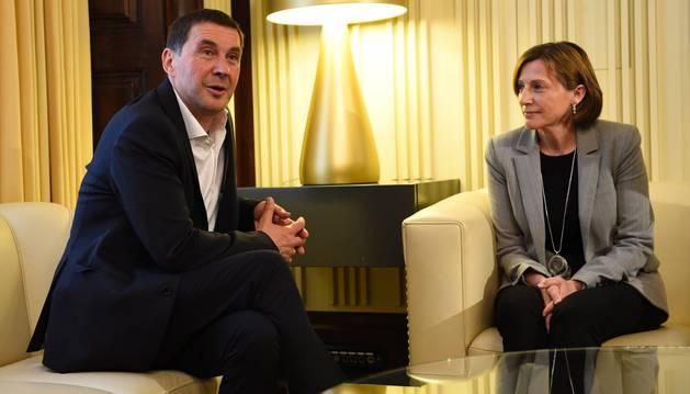 Otegi invita a Podemos a sumarse al frente independentista