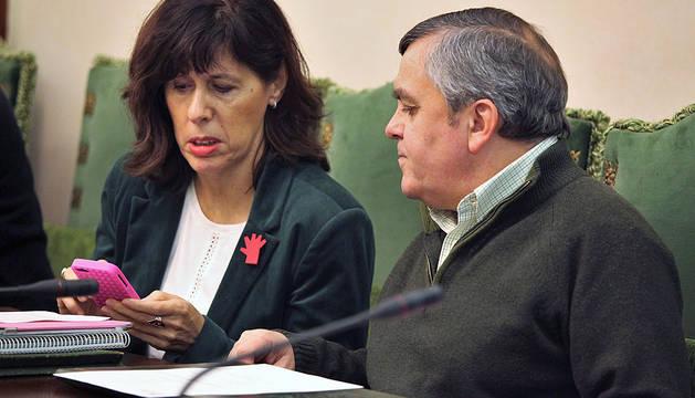 Maite Esporrín y Eduardo Vall.