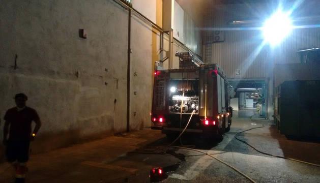 Evacuada la empresa Pelzer del Norte, de Tafalla, por riesgo de incendio