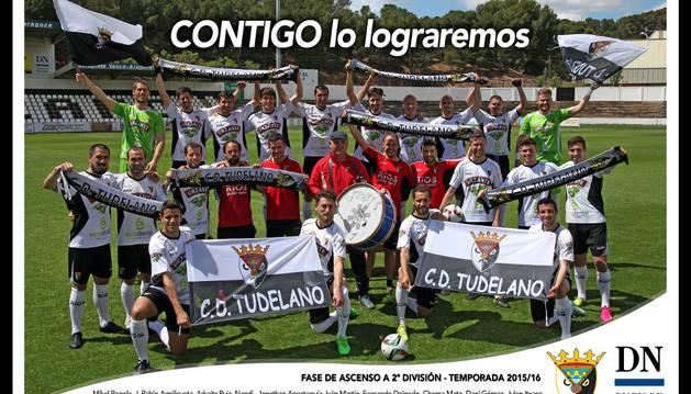 Un póster por el sueño del ascenso del Tudelano