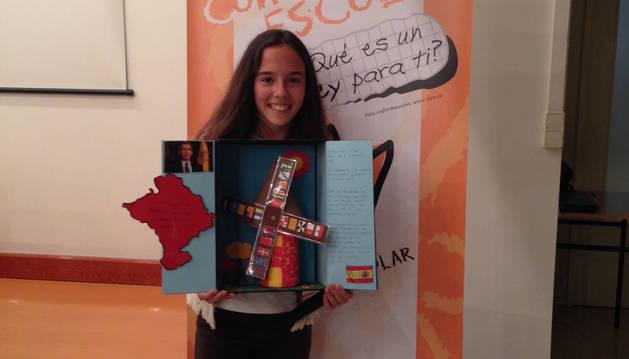 La escolar ganadora en Navarra, Dana Martínez Pina.