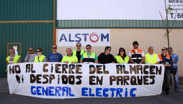 La plantilla de parques eólicos de General Electric inicia una huelga indefinida