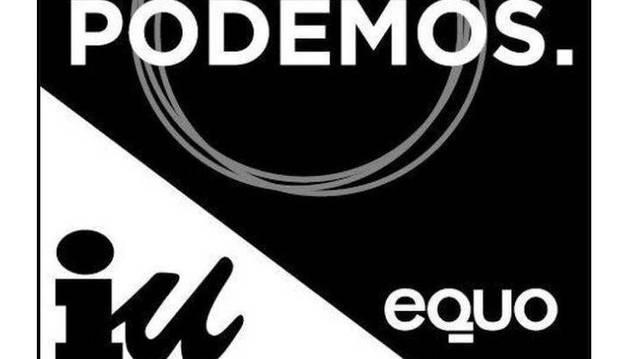 Podemos deja a Izquierda Unida en segundo plano en el logotipo electoral
