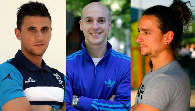 Adrián Garbayo, Xabi Soria y Juan Luis Cisneros.