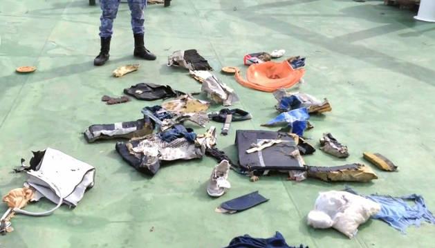 Restos del avión encontrados.