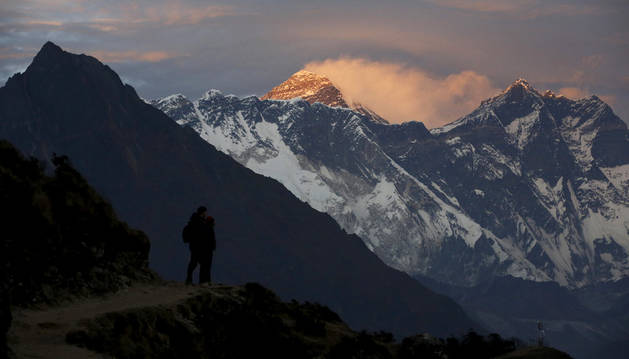 Atardecer en el Everest.