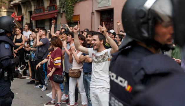 Manifestación antifascista de la plataforma 'Madrid para todas'.