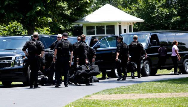 Agentes del Servicio Secreto, el cuerpo que protege al presidente de EE UU y su familia.