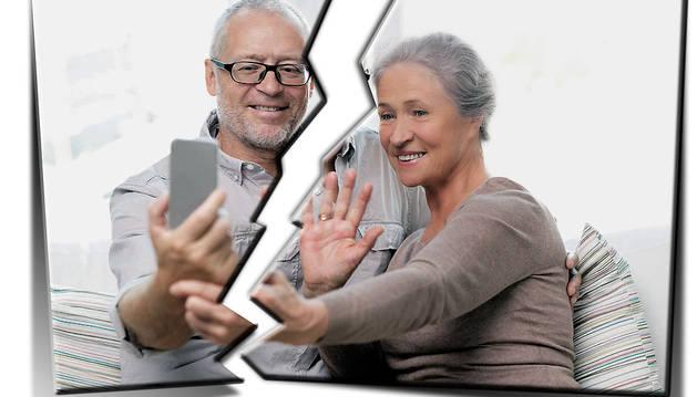 La edad madura, un momento en el que los divorcios aumentan, según la estadística.