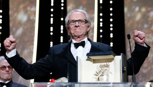 Ken Loach gana su segunda Palma de oro de Cannes, por 'I, Daniel Blake'