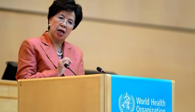 La directora general de la OMS, Margareth Chan, en la cumbre de la OMS.