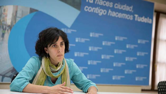 La edil Marisa Marqués en la presentación de las subvenciones.