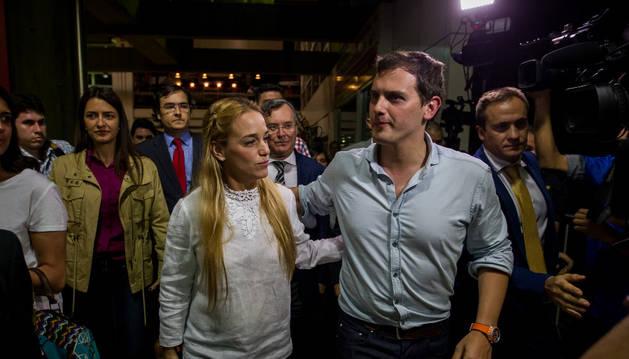 Albert Rivera llega a Venezuela,
