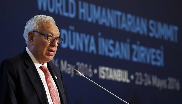 García-Margallo interviene en el plenario de la cumbre humanitaria mundial de la ONU que se celebra en Estambul.