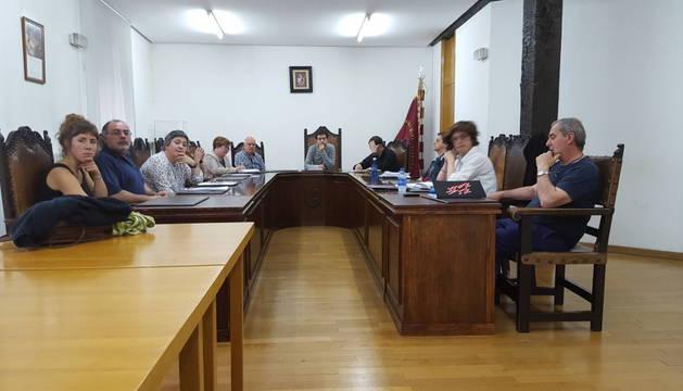 Imagen de la sesión plenaria de ayer por la tarde celebrada en el Ayuntamiento de Alsasua.