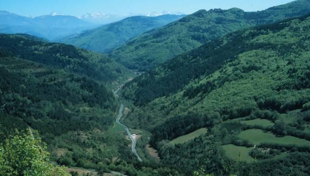 Vista del valle del Anduña.