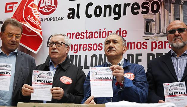 Los sindicatos reclaman una renta mínima garantizada