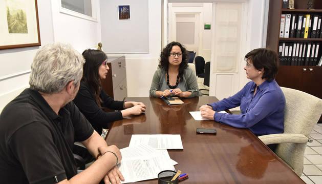Edurne Egino se reúne con la defensora de los Derechos Humanos en Colombia