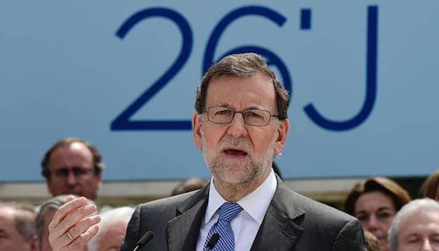 Mariano Rajoy, durante un acto de precampaña.