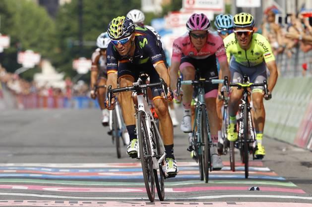 Alejandro Valverde, en el sprint de meta.