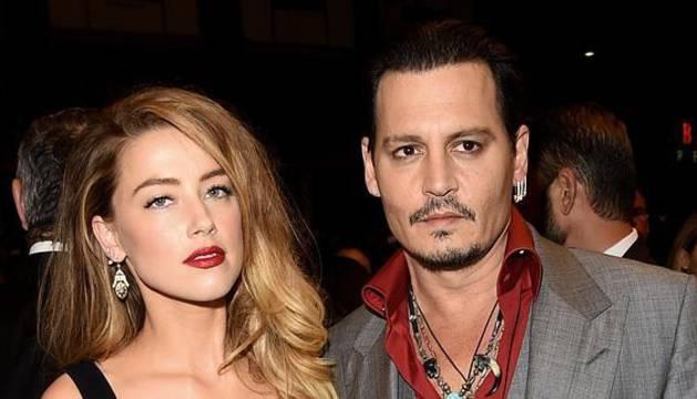 Amber Heard y Johnny Deep, en el Festival de Cine de Toronto.
