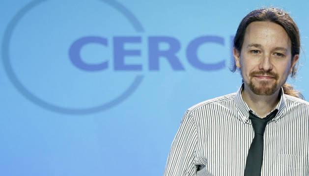 Pablo Iglesias, durante su intervención en la primera jornada de la XXXII Reunión del Círculo de Economía.