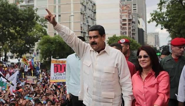 Nicolás Maduro, durante un acto del chavismo en Caracas.