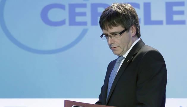 Carles Puigdemont, durante la inauguración de la XXXII Reunión del Círculo de Economía.