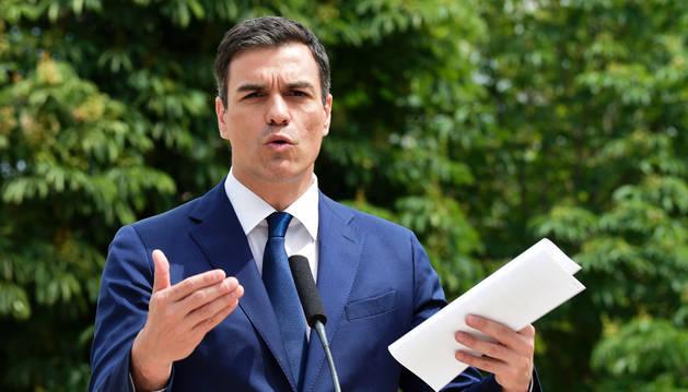 El líder de los socialistas, Pedro Sánchez.
