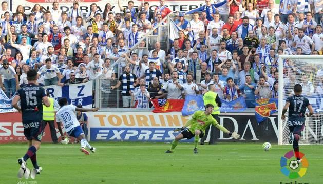 Dongou marcó el 0-1.