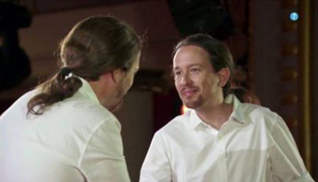 Pablo Iglesias inaugura el nuevo programa de Cuatro, 'Feis tu Feis'
