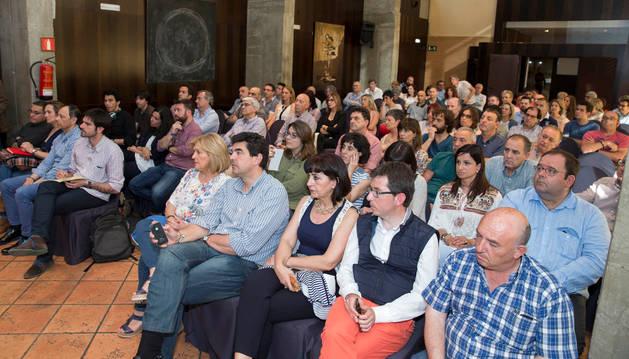 Imagen de los asistentes al I Foro Surtopía celebrado ayer en Tudela.