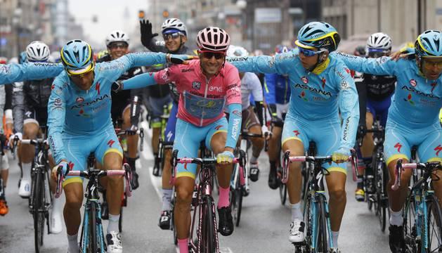 Nibali, vencedor del Giro 2016.