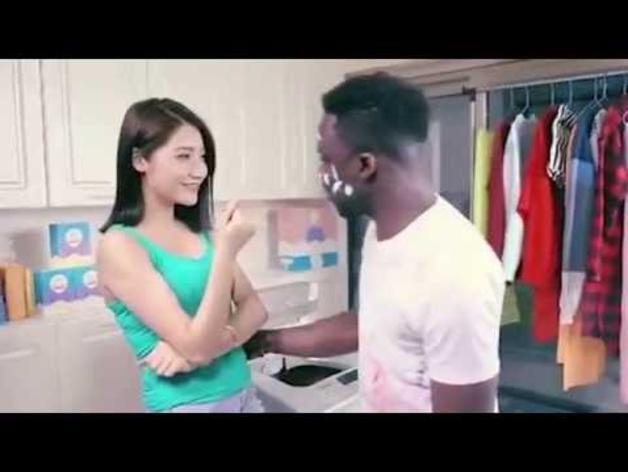 Anuncio de la marca de detergente Qiaobi