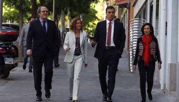 Ángel Gabilondo, Meritxell Batet, Pedro Sánchez y Margarita Robles.