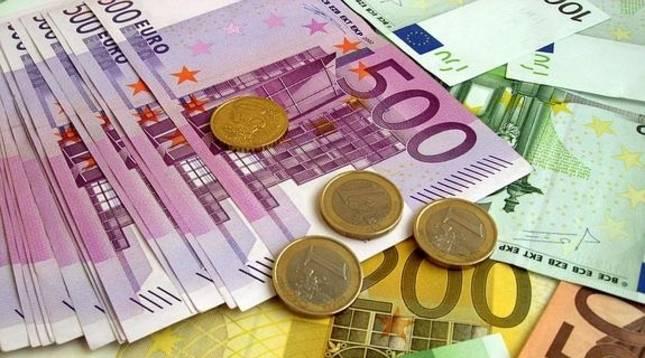 Billetes y monedas de euro.