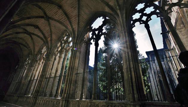 El claustro de la catedral de Pamplona, una de las joyas de la arquitectura navarra.