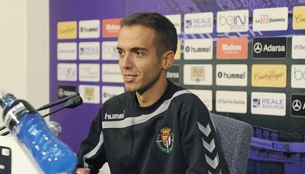 Borja Jiménez, con el Valladolid B.