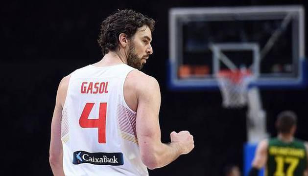 El jugador de la Selección Española de baloncesto, Pau Gasol.