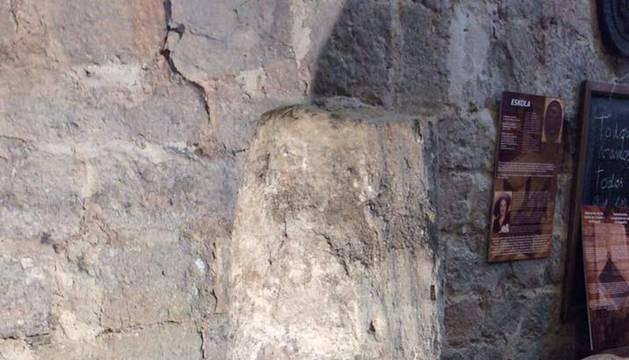 Un miliario romano oculto en la iglesia