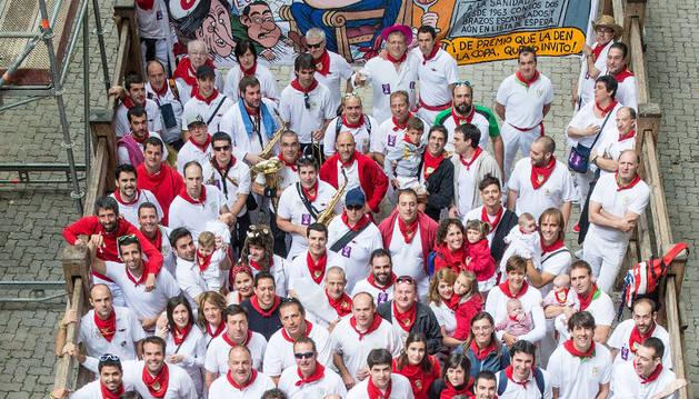 Foto de grupo de la Peña de 2014.