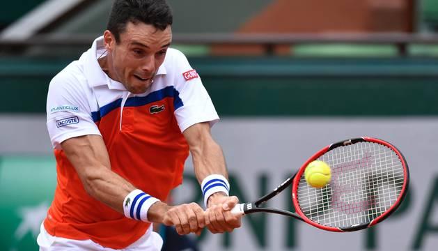Roberto Bautista, en su partido contra Djokovic.