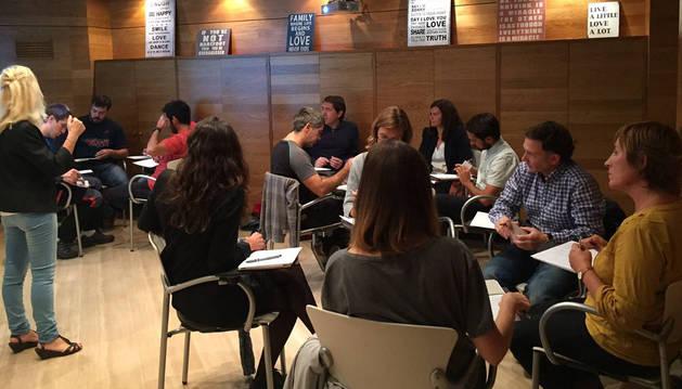 Participantes en una edición anterior de 'Pamplona Emprende',