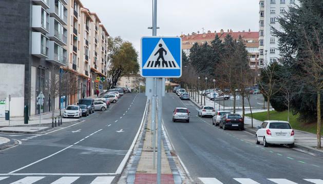 Calle Miluce, en Pamplona.