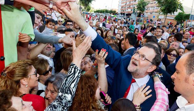 Rajoy, en un acto en Almendralejo (Badajoz).