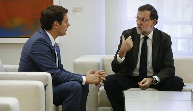 Rivera y Rajoy, en octubre en la Moncloa.