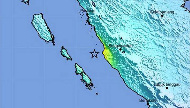 El lugar del terremoto, de 6,5 grados.