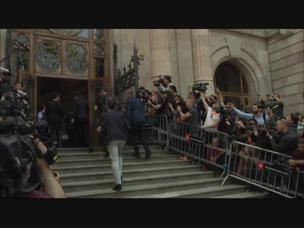 Messi y su padre llegan a la Audiencia Nacional